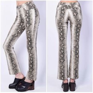 Vintage Faux Snakeskin Print High Waisted Jeans 18